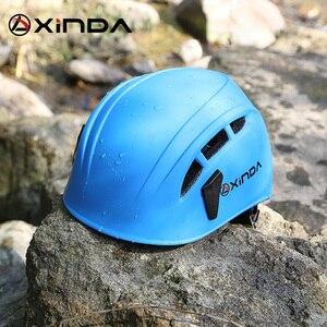 Image 2 - Équipement de sauvetage de montagne de spéléologie de casque de descente descalade extérieure de Xinda pour élargir le casque de travail de spéléologie de casque de sécurité