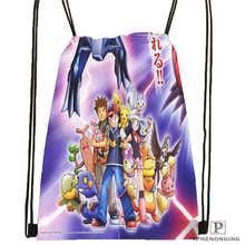 Custom Cartoon-Pokemon-Cute@02- Drawstring Backpack Bag Cute Daypack Kids Satchel (Black Back) 31x40cm#180611-01-24