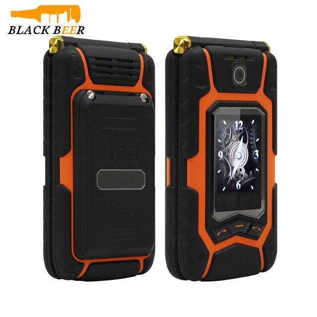 לנד רובר X28 X9 כפולה מסך Flip בכיר בלחיצת כפתור נייד טלפון כתב יד צדפה נייד רוסית מקלדת מפתח טלפון