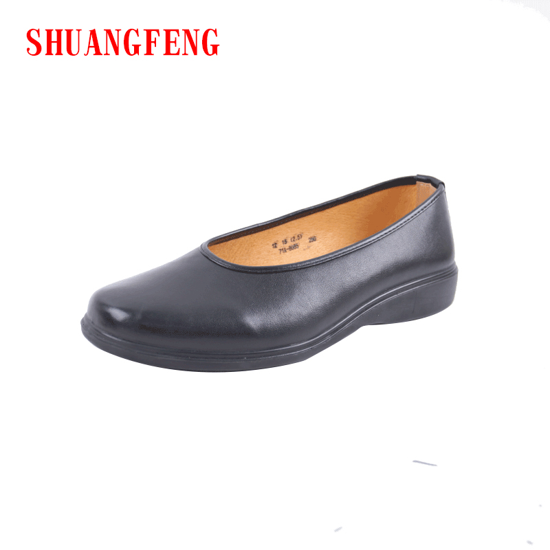 SHUANGFENG Brand Men Shoes 2018 Hot Sale Slip en cuero genuino - Zapatos de hombre