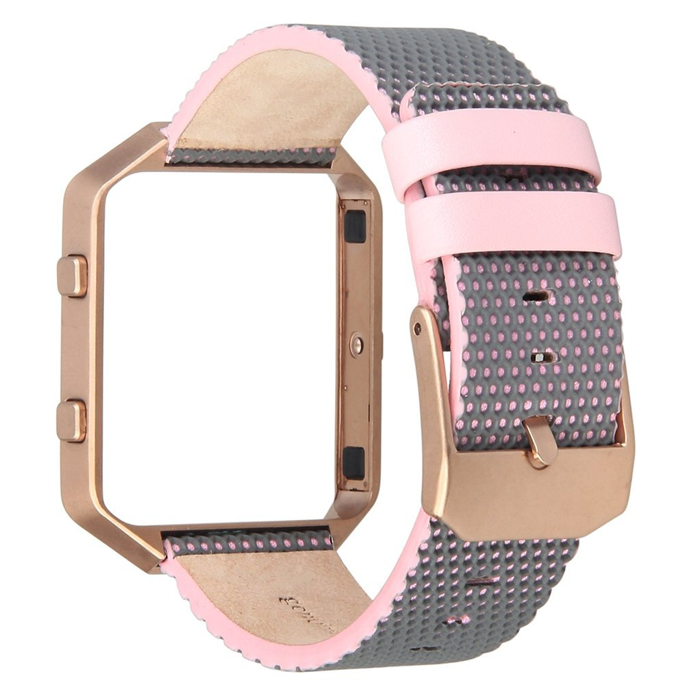 V-Moro Leather Watch Bracelet Replacement Bands with Rosegold Frame For Fitbit Blaze smart watch свитер tony moro tony moro to046emobl55