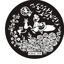 2016 Hot ! High Quality HEHE stamping plate 068 Various Rose Flower (HeHe-68)