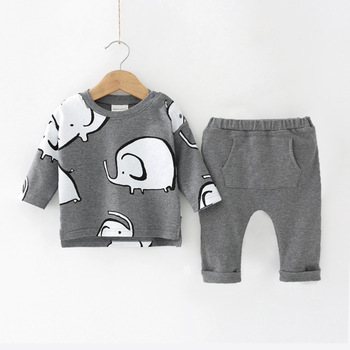 Newborn Baby Girls Clothes 2019 Autumn Winter Baby Boys Clothes Set 2pcs Outfits Kids Baby Costume Infant Clothing For Baby Suit 2