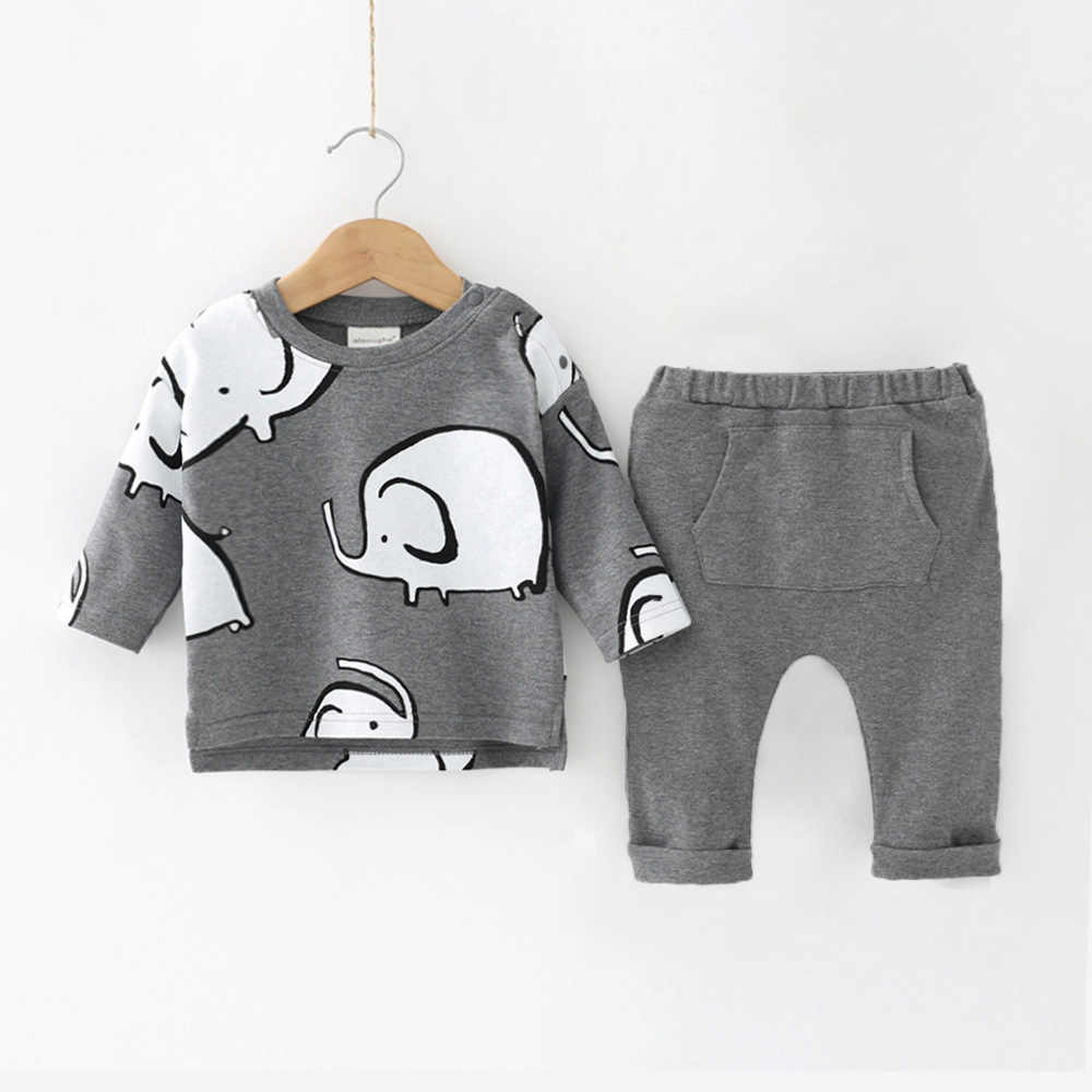 2c4edcceb ... Newborn Baby Girls Clothes 2019 Autumn Winter Baby Boys Clothes Set  2pcs Outfits Kids Costume For ...