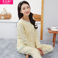 Plus Size XXL New Autumn Nightwear Nursing Maternity  Long Sleeve Cotton Pajamas for Pregnant Women Breastfeeding Pajamas