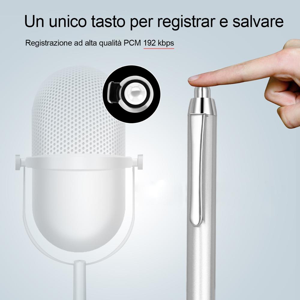 16GB Black Sliver Digital Audio Voice Recorder Pen MP3 Player Dictaphone Sound Professional Noise Reduction grabadora de voz