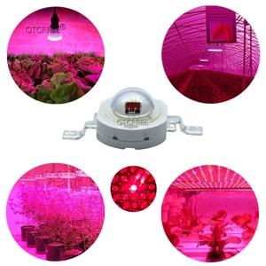 Image 4 - Lampe LED COB SMD, rouge profond, 660nm, pour culture de plantes et fruits, 100 pièces, éclairage pour culture de plantes, 3W, puce LED pièces