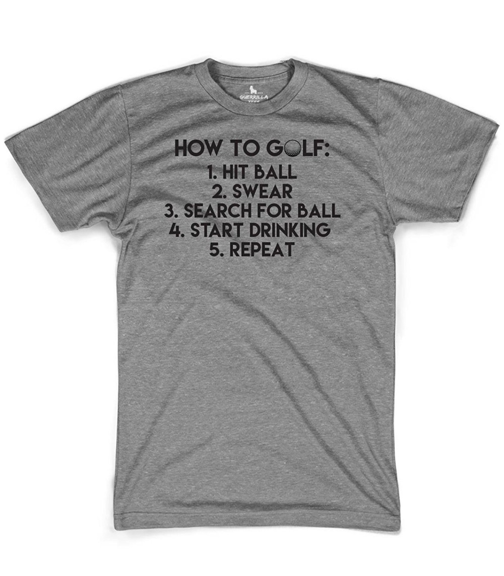 Print Your Own T Shirt Short Sleeve Men Zomer Golfing And Drinking O-Neck T Shirts