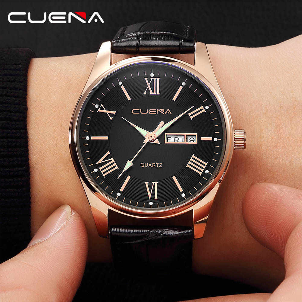 Military Fashion Men Watches Luxury Stainless Steel Dial Leather Band Date Analog Quartz Wrist Watches Men's Watch relogio A40