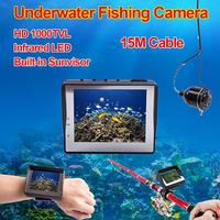 Free Shipping 15m Underwater Video 1000TVL Camera Fishing Fish Finder Colour 3 5 LCD Monitor