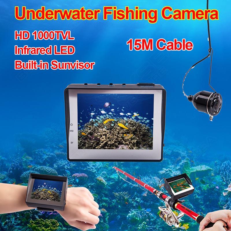 Eyoyo 15 m Macchina Fotografica Subacquea Video di Pesca 1000TVL Fish Finder 3.5