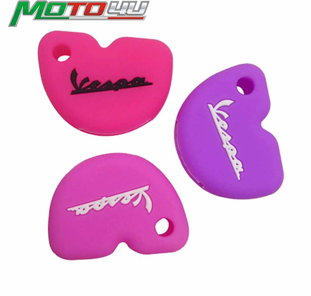 MOTO4U style silicone caoutchouc clé housse pour Vespa Enrico Piaggio GTS300 LX150 fly 125 3vte Gts 200 clé de moto