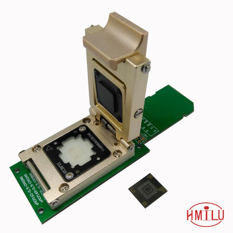 eMMC test socket to SD Interface Nand flash pogo pin BGA153/169 Reader Chip Size 12x18mm Pitch 0.5mm smart phone date recovery new test seat turn the programmer bga socket 169 or 153 burning seat test fixture