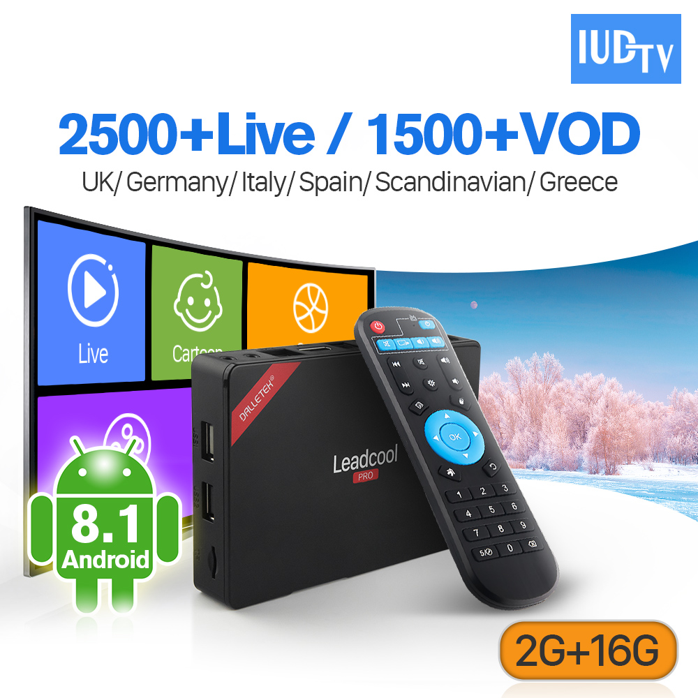 Codice IUDTV Europa IPTV Box Leadcool Pro RK3229 Android 8.1 2G + 16G UK Nordic Turchia Portogallo di Abbonamento IP TV 1 Anno BoxCodice IUDTV Europa IPTV Box Leadcool Pro RK3229 Android 8.1 2G + 16G UK Nordic Turchia Portogallo di Abbonamento IP TV 1 Anno Box