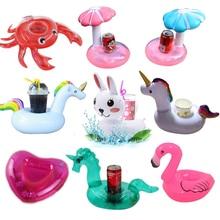 YUYU надувной подстаканник Единорог Фламинго держатель для напитков плавательный бассейн поплавок бассейн игрушки вечерние украшения бар подставки