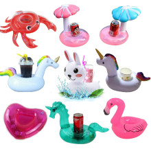 YUYU Inflatable Cup Holder Unicorn Flamingo Drink holder Swimming Pool Float Bathing pool Toy Party Decoration Bar Coasters(China)
