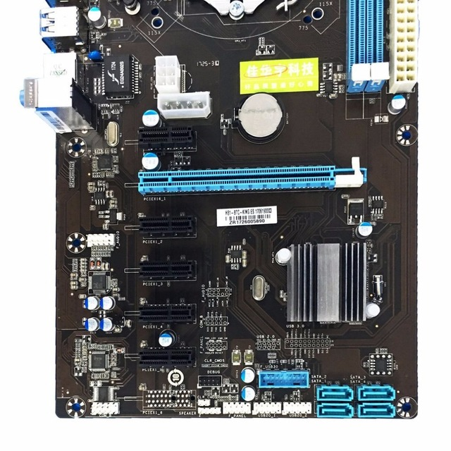 H81 6 GPU Mining Motherboard with 6Pcs PCI-E Extender Riser Card Support DDR3 USB Computer Mainboard For BTC Eth Rig Ethereum 3
