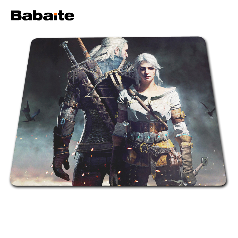 Babaite Rubber Anti-slip Mice Mat DIY Design Pattern Computer Mousepad Gaming The Witcher 3 Wild Hunt Mouse Pad недорго, оригинальная цена