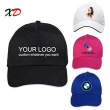 63596305e76 Custom baseball cap 100% cotton print logo text photo embroidery casual solid  hats black color