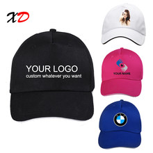 95d32c2bb32ab1 Custom baseball cap 100% cotton print logo text photo embroidery casual  solid hats black color