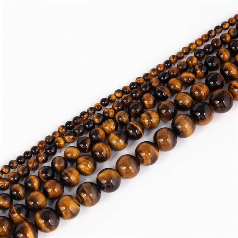 4/6/8/10/12mm Round Natural Tiger Eye Stone Beads Bracelet Accessories Fashion DIY Bracelets Jewelry For Women Gift Meajoe