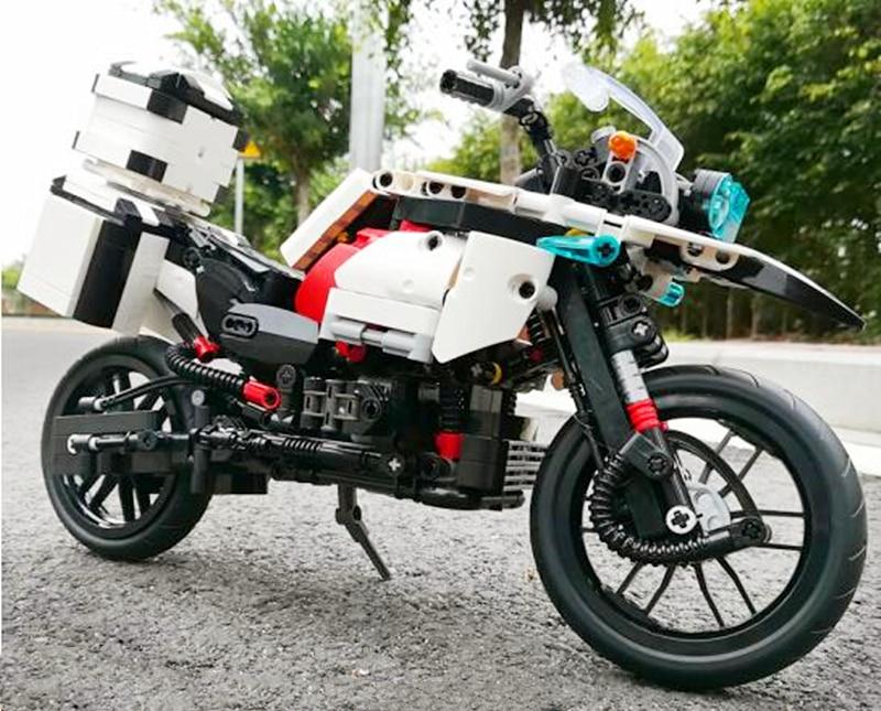 テクニック MOC R 1200 GS オートバイのビルディングブロックセットレンガクラシックカーモデル子供のおもちゃ  グループ上の おもちゃ & ホビー からの ブロック の中 1