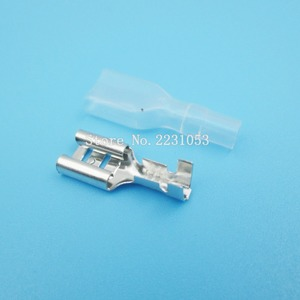 200PCS/LOT 100Set 6.3mm Crimp