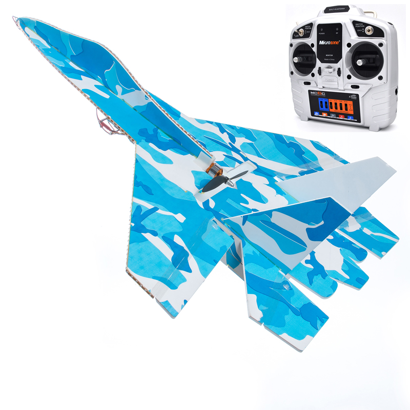 New DIY Large RC Fighter Su27 Flanker RC Airplane Powerful Bomber LED 2.4G KT Board Remote Control Aircraft DIY Su27RC Airplane