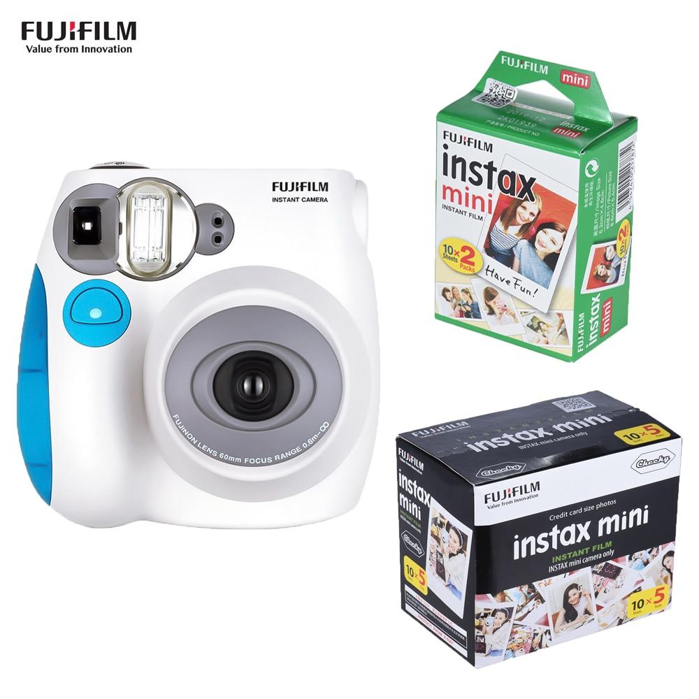 Fujifilm Instax Camera Mini7s Instant Camera Film Camera +20 50 Sheets Fujifilm Instax Mini Film mini 8 mini 9 Mini7s Film Gift