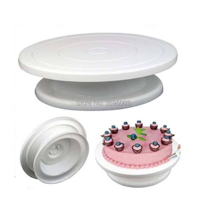 1PCs/Set Plastic Cake Turntable Rotating Dough Decorating Cream Cakes Stand Rotary Table