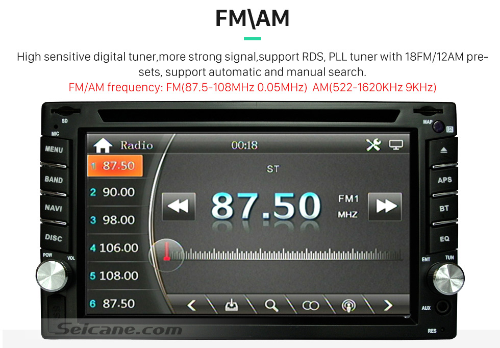 Seicane 2din car dvd player gps radio bluetooth universal for nissan unit functions fandeluxe Gallery