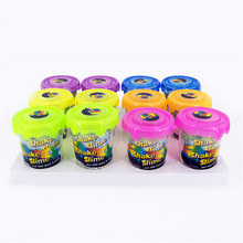 2019 DIY Glitter Slime Make Kit Filler Polymer Clay Powder for Supplies Slime Add Water Shake Putty Set Antistress Toys