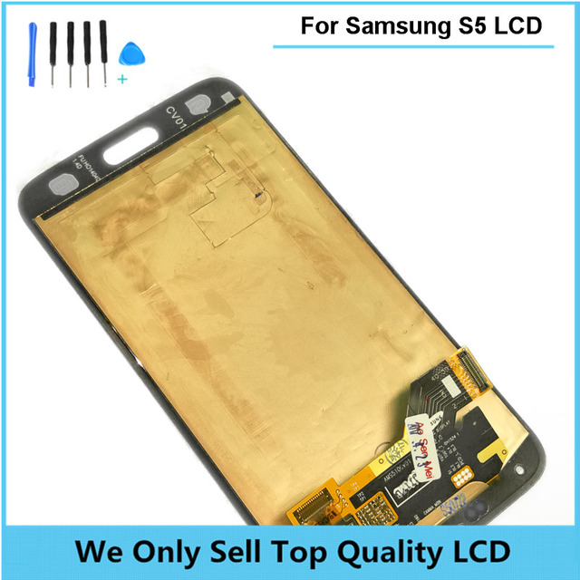 For Samsung S5 LCD Display Touch Screen Digitizer SM-G900M SM-G900F G900A LCD Complete Original OEM  Free Shipping 5pcs/lot