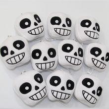 Porte-clés en peluche Sans conte de dessin animé, 10 pièces/lot, pendentif poupées douces mignonnes de 8 cm, cadeau pour enfants