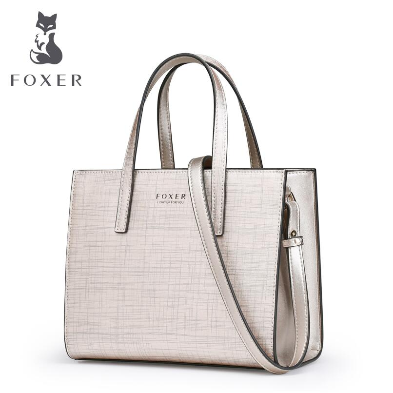 FOXER2018 new luxury fashion high-end simple small square bag handbag Messenger shoulder bag fashion leather handbags