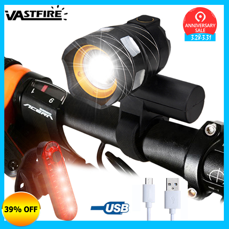 15000LM T6 LED USB Linie Hinten Licht Einstellbar Fahrrad Licht 3000 mAh Akku Zoomable Vor Fahrrad Scheinwerfer Lampe