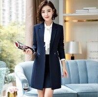 Woman Plus Size Trench Coat Casual Long Blazer Black Red Blue Office Lady Work Jacket Long Sleeve Korean Suit Women 3XL 4XL
