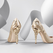 Flower Heel Wedding Shoes