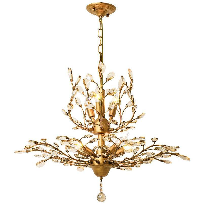 Nordic Einfache Design Blume Stil Deckenleuchten Personalisierte Luxus Gold Restaurant Wohnzimmer DeckenleuchteChina
