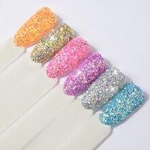 6pcs/set Laser Nail Glitter Decorations Set Shiny 3D Ultra-fine Art Sequin Powders DIY