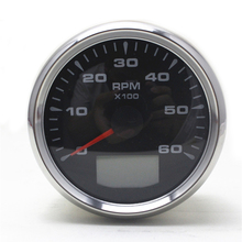 85mm Car Tachometer Gauge 0~6000 RPM Vessel Tacho Gauge With Hour Meter with 8 color Backlight digital multi functional tachometer tacho meter rpm record meter tester with usb interface sm8238