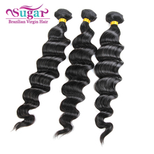 3Bundles Virgin Brazilian Loose Wave Hair 7A Unprocessed Sugar Virgin Hair Brazilian Virgin Hair Loose Wave Hair Weave Bundles