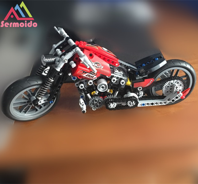 sermoido 378Pcs Technic Motorcycle Exploiture Model Vehicle Building Bricks Block Set Toy Gift Compatible Decool DBP179 in Blocks from Toys Hobbies
