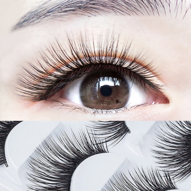 Super Thick False Eyelashes Beauty Eye Makeup Black Brown Hair False