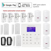 433mhz 2.4G Wireless wifi gsm alarm systems security home for home Spanish/Dansk/Polish menu door sensor outdoor flash siren