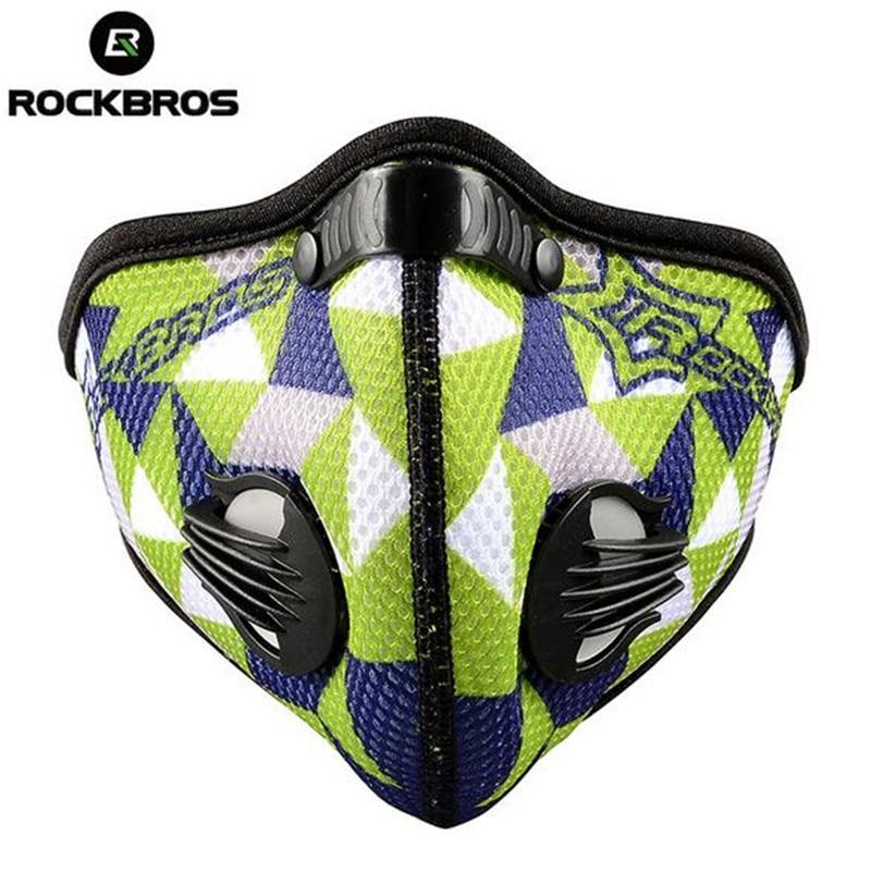 Prix pour Rockbros Formation Masque Sport Vélo Vélo Motocross Vélo Masque Filtre Air Polluant Néoprène Masque Anti-Poussière Mascaras Ciclismo