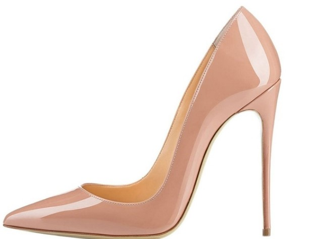 New women high heel pointed toe slip on sexy pumps 10 cm and 12 cm nude high heel wedding bride shoes concise style stilettos apoepo women high heel pointed toe slip on sexy pumps 10 cm and 12 cm nude high heel wedding bride shoes concise style stilettos