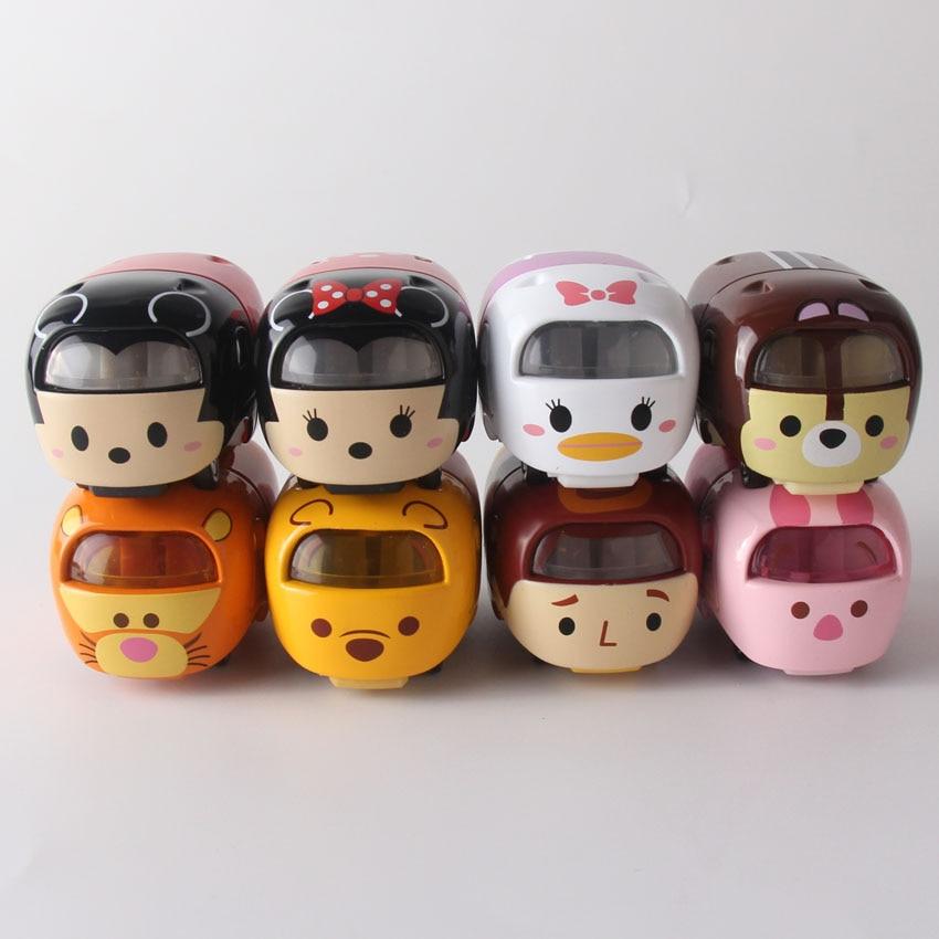 Hight Qualité Tsum Tsum Voiture Minnie Mickey Donald Tigger Poupée 5 cm Mignon Mini Auto Brinquedos Jouet Modèle Enfants Bébé cadeaux