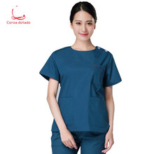 Korean hand washing clothes surgery clothes men and women doctors service nurses service operating room isolation clothes цена 2017