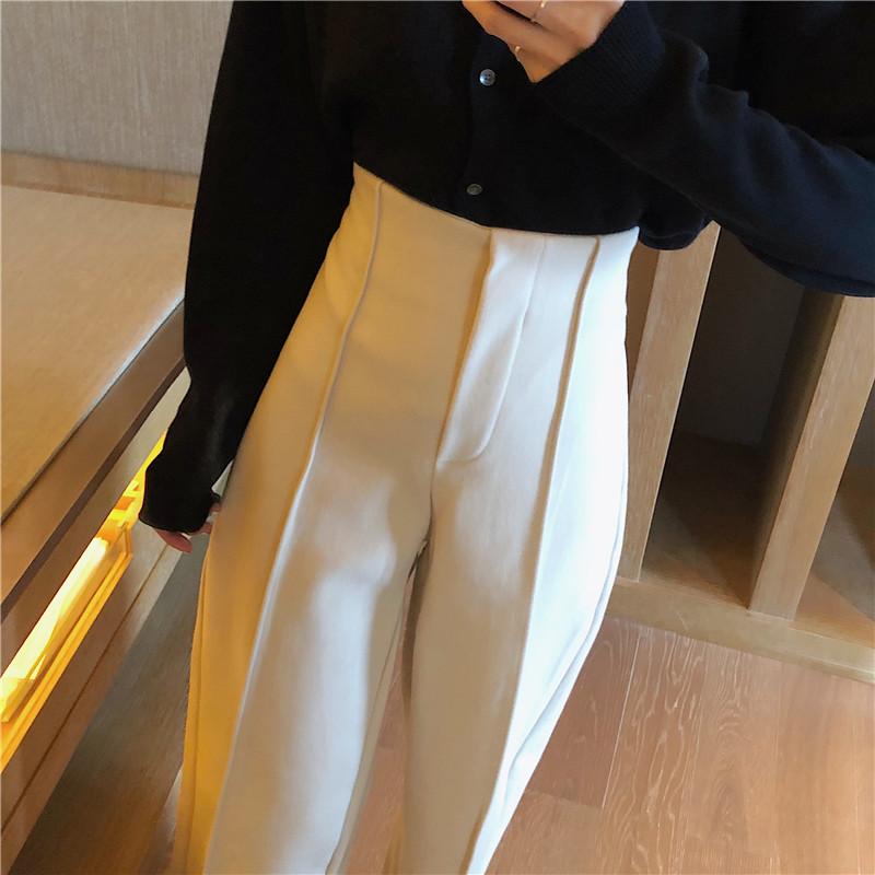 Women's Pants Elegant Style Plaid Pants for Women Autumn Casual Loose Elastic Waist Trousers Harajuku Female Ankle-Length ZT1954 11